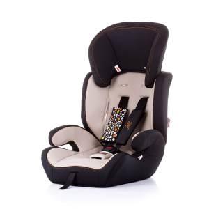 Chipolino Kindersitz Jett Gruppe 1/2/3 (9 - 36 kg), verstellbare Kopfstütze beige-schwarz