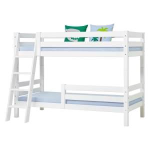 Hoppekids 'Premium' Etagenbett schräge Leiter, 90 x 200 cm, inkl. Rollroste und extra Schutzvorrichtung