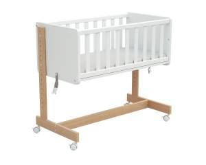 Osann '5in1' Beistellbett, Natur/Weiß, inkl. Matratze, auch als Stubenwagen, Sitzbank, Spielzeugtruhe oder Schreibtisch nutzbar