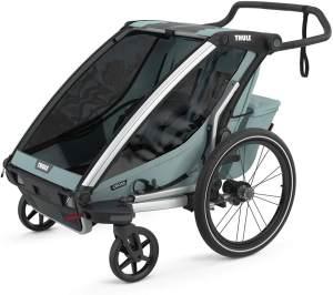Thule 'Chariot' Fahrradanhänger Set + Thule Babysitz Cross 1 Alaska