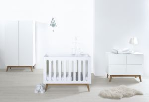 Quax 'Trendy White' 3-tlg. Babyzimmer 60x120cm/3-Türig