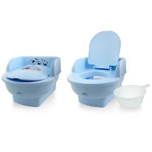 Lorelli Töpfchen Throne Handauflage, beweglicher Deckel herausnehmbarer Behälter blau