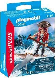 Playmobil Special Plus 70598 'Pirat mit Floß und Hammerhai', 6 Teile, ab 4 Jahren
