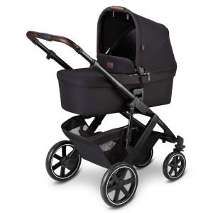 ABC Design 'Salsa 4' Kombikinderwagen 3 in 1 Set S midnight inkl. Babyschale asphalt, Adapter und Regenverdeck