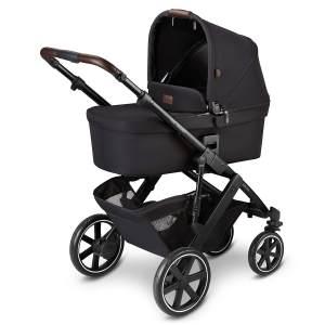 ABC Design 'Salsa 4' Kombikinderwagen 3 in 1 Set S midnight inkl. Babyschale graphite grey, Adapter und Regenschutz