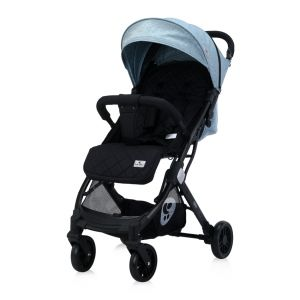 Lorelli Kinderwagen Fiorano faltbar, Ablagekorb, Frontbügel abnehmbar, Bremse blau