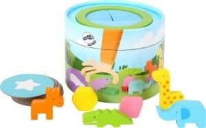 Small Foot 11448 Display Jo Space, aus Holz, verschiende Weltallmotive, Bewegungsspiel für unterwegs Spielzeug, Mehrfarbig