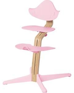 Evomove 'Nomi' Hochstuhl (Mittelsäule + Kunststoffelemente) weiß geölt, pale pink