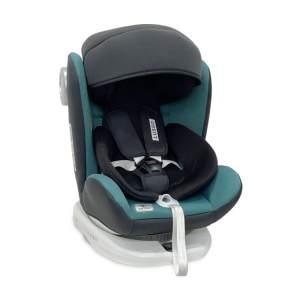 Lorelli Kindersitz Lusso, SPS, Isofix, Gruppe 0+/1/2/3, (0-36 kg), Sitz drehbar grün