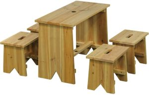 EXIT TOYS Picknickset mit vier Kinderhockern