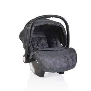 Moni Babyschale Gala Premium Gruppe 0+ (0 - 13 kg), Fußabdeckung, Sitzpolster dunkelgrau