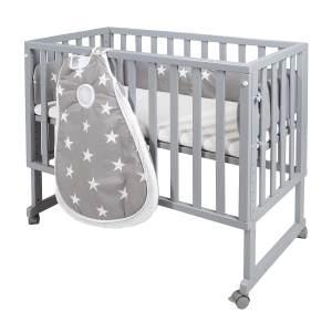 Roba 'Little Stars' 3 in 1 Stubenbett, taupe, inkl. Matratze, Nestchen und Schlafsack, 10-fach höhenverstellbar