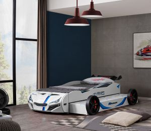 Relita 'Superdrift' Autobett 90x200 cm, weiß, mit Gästebett