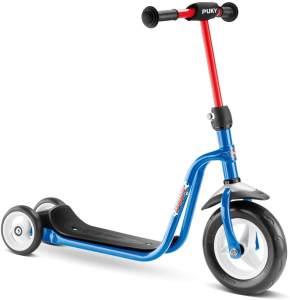 Puky 5176 'R 1' Scooter, ab 2 Jahren, höhenverstellbar bis 67 cm, Sicherheitslenkergriffe, Lenkerpolster, max. belastbar bis 20 kg, azure
