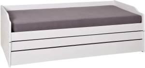 Interlink 'LOTAR' Bett weiß lackiert, 90 x 200 cm, mit Klappfunktion