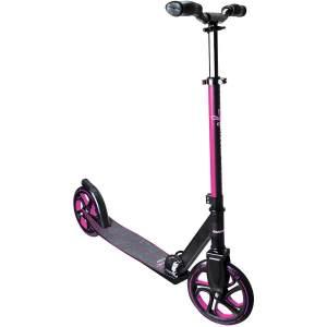 Muuwmi 466 'Aluminium Pro 215 mm' Scooter, ab 6 Jahren, 3-fach höhenverstellbar bis 97 cm, klappbar, max. belastbar bis 100 kg, schwarz/pink