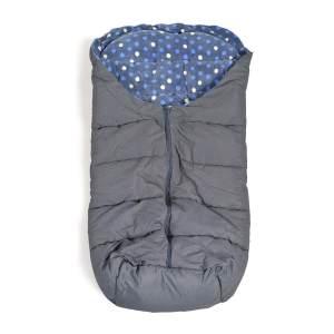 Cangaroo Fußsack Cuddle, für Kinderwagen Thermofleece wasserdicht Reißverschluss blau