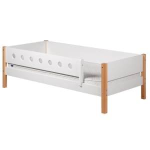 Flexa 'White' Einzelbett weiß/natur, 90x190 cm