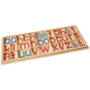 Bartl 109687 'Bewegliches Alphabet groß' Lernspiel, ab 5 Jahren, Höhe des Buchstaben a 4,8 cm, blau/rot