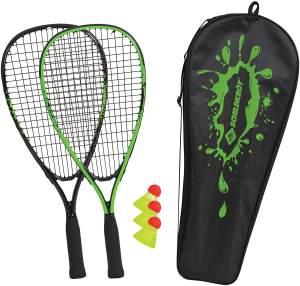 Schildkröt 'Speed-Badminton Set', qualitativ hochwertiges Set mit zwei handlichen Schlägern, drei Bällen und Tragetasche