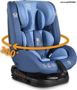 Moni Kindersitz Serengeti 0-36 kg Gruppe 0/1/2/3 Isofix drehbar 165° Neigung blau
