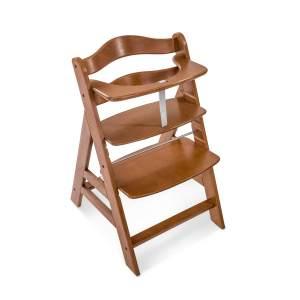 Hauck 'Alpha+' Treppenhochstuhl, walnuss, ab 6 Monaten, mitwachsend, höhenverstellbar, bis 90 kg belastbar