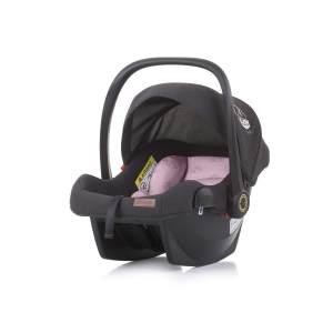 Chipolino 'Duo Smart' Babyschale Gruppe 0+ (0 - 13 kg), Sonnendach faltbar, Kissen rosa