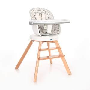 Lorelli Hochstuhl Napoli 3 in 1 Kinderstuhl, Sitz 360° drehbar, Höhe verstellbar grau weiss