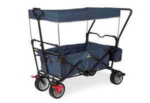 Pinolino 'Paxi dlx Comfort' Klappbollerwagen in Marineblau, inkl. Feststellbremse, Sonnendach, Hecktasche und Schiebegriff