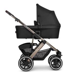 ABC Design 'Salsa 4 Air' Kombikinderwagen 3 in 1 Dolphin inkl. Sportsitz, Babywanne, Cybex Cloud Z Babyschale Deep Black