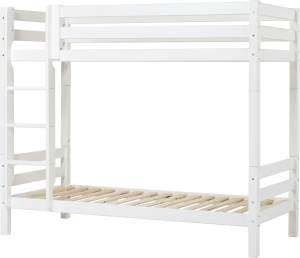 Hohes Etagenbett mit Gerader Leiter und Rahmenlattenrost, Hoppekids Premium