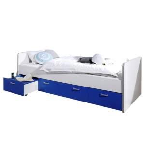 Relita 'Bonny' Stauraumbett weiß/blau 90 x 200 cm