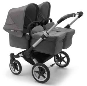 Bugaboo 'Donkey3 Twin' Geschwisterwagen 3 in 1 Grau inkl. Babyschale