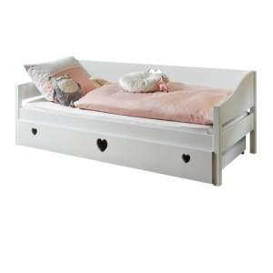 Relita 'Elsa' Bett weiß 90x200 cm mit Bettkasten