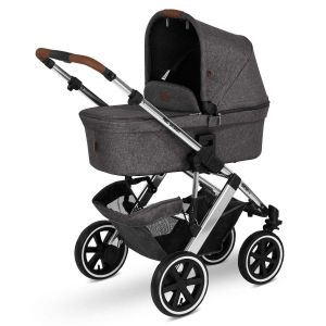 ABC Design 'Salsa 4 Air' Kombikinderwagen 3in1 Set S asphalt, Babyschale khaki green und Adapter