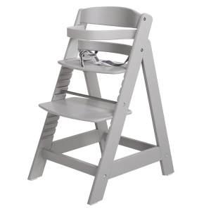 Roba 'Sit Up III' Treppenhochstuhl, grau, höhenverstellbar, mit Sicherheitsbügel und Gurtsystem, bis 50 kg belastbar