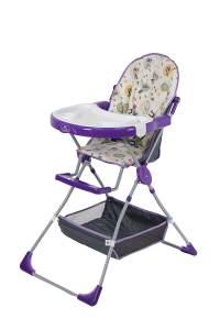 Polini Kids Kinderhochstuhl 252 Owls violett/weiß