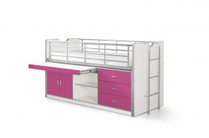 Vipack 'Bonny' Multifunktionsbett weiß/pink