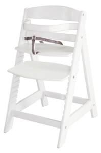 Roba 'Sit Up III' Treppenhochstuhl, weiß, höhenverstellbar, mit Sicherheitsbügel und Gurtsystem, bis 50 kg belastbar