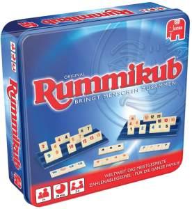 Jumbo Spiele 'Original Rummikub in Metalldose' Legespiel, ab 7 Jahren, 2 - 4 Spieler, 20 min Spielzeit