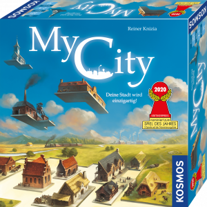 Kosmos 'My City - Deine Stadt wird einzigartig!' Legespiel, ab 10 Jahren, 2 - 4 Spieler, 30 min Spielzeit, Spiel des Jahres 2020