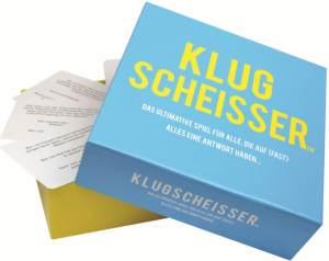 Kylskåpspoesi 'KLUGSCHEISSER - Das ultimative Spiel für alle, die auf (fast) alles eine Antwort haben...' Kartenspiel, ab 12 Jahren, 2+ Spieler, 10 - 120 min Spielzeit