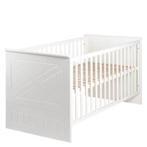 Roba 'Constantin' Kombi-Kinderbett 70 x 140 cm, weiß, höhenverstellbar, 3 Schlupfsprossen, umbaubar