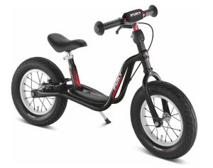 PUKY 4078 'LR XL' Laufrad, für Kinder ab 95 cm Körpergröße, bis 25 kg belastbar, höhenverstellbar, inkl. Bremse, schwarz-rot