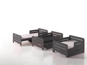 Vipack 'Jumper' mitwachsendes Kinderbett grau 90 x 140/160/200