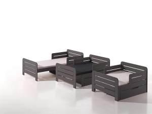 Vipack 'Jumper' mitwachsendes Kinderbett grau 90x140/200cm