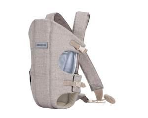 Kikkaboo Babytrage Gwen Bauchtrage Rückentrage breite Schultergurte, verstellbar beige