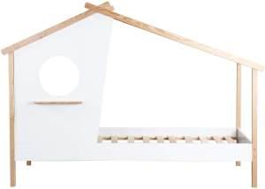 Kinderbett Haus Bett 90x200 MDF/Pinie Weiß