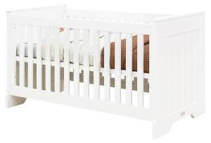 Babybett Narbonne Weiß 70x140cm, Lattenrost höhenverstellbar, Bopita