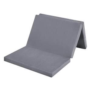BABY-PLUS Reisebettmatratze 60x120 cm, grau, klappbar mit Transporttasche